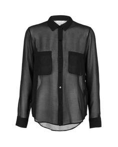 Chemise femme noir Samsoe - 50 chemises pour passer du bureau au resto - Elle  Chemise 10a68485a37