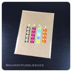 £1.50 Plus postage  Candle children's greetings card by mummypuddleduck on Etsy