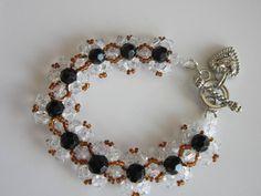 Bracelet . Как сделать браслет с кристаллами Сваровских .