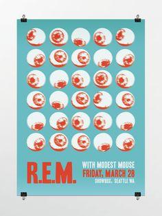 REM concert  Posters | concert poster for r e m event concert poster for the band r e m at ...