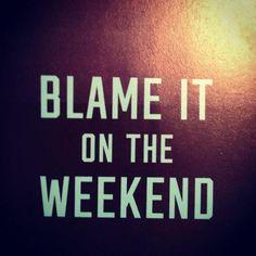 blame it.