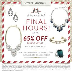 Get up to 65% OFF at www.chloeandisabel.com/boutique/kristalewis