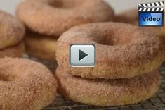 Baked Cake Doughnuts Recipe - Joyofbaking.com *Video Recipe*