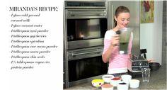 Miranda Kerr's morning smoothie