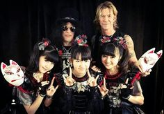Slash and Duff McKagan with Baby Metal
