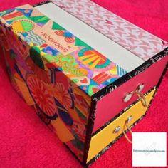 Boîtes de rangement réalisée avec 2 boîtes #Birchbox