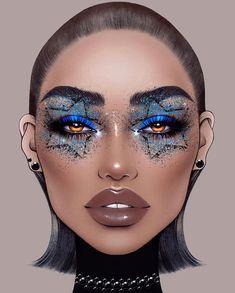 Halloween Face Makeup, Make Up, Illustration, Face Charts, Instagram Artist, Milk, Fashion Sketchbook, Makeup, Illustrations
