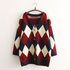 """Style:sweet Japanese,cute kawaii,cardigan jacket,sweater coat Fabric material:cotton blend Color:wine red Size:one size Bust:110cm/43.30"""" Shoulder:64cm/25.19"""" Sleeve length:51cm/20.07"""" Length:76cm/29.92"""" Tips: *Please double check above size and consider your measurements before orde..."""