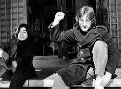 John and Yoko in Japan