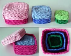 crochet boxes, so cute and I'm pretty sure this would be easy to do!