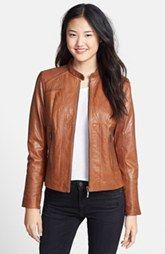 Bernardo Leather Scuba Jacket (Regular & Petite)