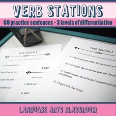 Verb Stations: practice identifying verbs (main verbs and helping verbs) while getting students out of their seats!