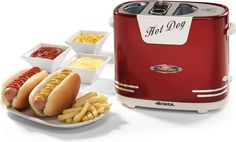 Ariete Hotdog-Maker 186 Party Time, 650 W kaufen Hot Dogs, Brown Kitchens, Cool Kitchens, Copper Bedroom, Cool Kitchen Gadgets, Bbq Grill, Doge, Popcorn Maker, Pop Up