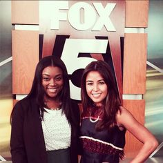 "Our very own Fashion and Beauty writer @angienaomi1 and Marketing Manager Dyanne Smith are on @fox5dc ""Style File"" with @annieyufox5 NOW 