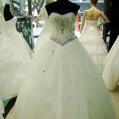 Crystal Wedding Dress At Bling Brides Bouquet - Online Bridal Shop  #BlingBridesBouquet
