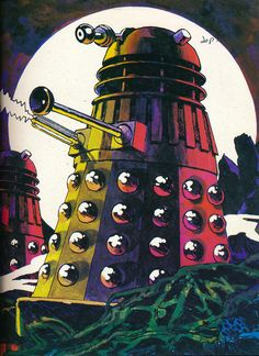 martinlkennedy: Illustrations from the Doctor Who and The Daleks Omnibus I had this book as a child. Artwork credited only to the General Illustration Company. Doctor Who Clara, Doctor Who Funny, Doctor Who Tumblr, Doctor Who Fan Art, Doctor Who Drawings, Doctor Who Tattoos, Doctor Who Illustration, Doctor Who Cakes, Doctor Who Poster