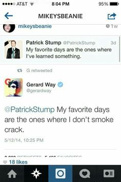 """Usually tweets by Gee are funny, but instead I got hit in the feels by his """"habits"""""""