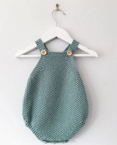 Seed stitch summer romper pattern