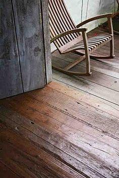 Rustic wood floor (Gaivota rocking chair from www.bodieandfou.com)
