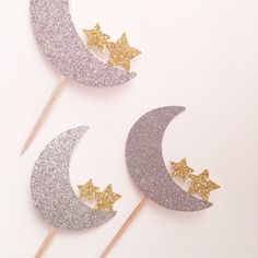 Moon and Star Cupcake Topper, Twinkle Twinkle Little Star Topper, Love You to the Moon and Back, Crescent Moon Party, Star Baby Shower - Decoration For Home Star Wars Party, Star Theme Party, Star Cupcakes, Cupcakes For Boys, Girl Cupcakes, Baby Shower Themes, Baby Shower Decorations, Shower Ideas, Decoraciones Ramadan