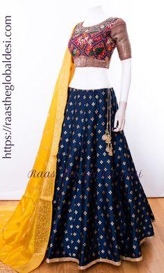 CHOLI-Raas The Global Desi-CHANIYA CHOLI-[chaniya_choli]-[chaniya_choli_online_USA]-[chaniya_choli_for_garba]-[chaniya_choli_for_navratri]-Raas The Global Desi Garba Chaniya Choli, Long Choli Lehenga, Lehnga Dress, Bridal Lehenga Choli, Indian Lehenga, Western Lehenga, Indian Gowns, Blouse Dress, Saree Blouse