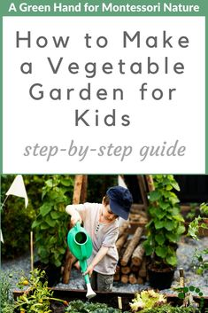 How to Make a Vegetable Garden for Kids Montessori is part of Kids vegetable garden - Children love dirt! Gardening is a perfect excuse to get dirty! Read our easy stepbystep guide to creating a nourishing vegetable garden with your children Garden Types, Home Vegetable Garden, Organic Gardening Tips, Gardening For Beginners, Gardening With Kids, Gardening Direct, Kitchen Gardening, Garden Kids, Container Gardening