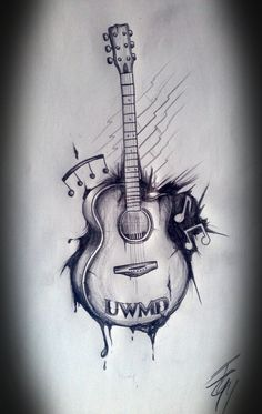 Musical Guitar Tattoo Art
