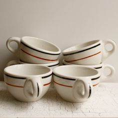 vintage restaurant coffee cups