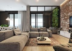 There are many residential interior styles that you can choose from. One of them is an industrial home style. This style is identical to the style of the industrial factory interior in the cen… Design Loft, Loft Interior Design, Tiny House Design, Design Case, Cabin Design, Interior Architecture, Industrial Interior Design, Industrial House, Modul Sofa