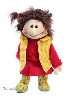 Living Puppets handpop Lene - Handpoppen.nl People Puppets, Living Puppets, Paper Puppets, Bicycle Bag, Funny Slogans, Practical Gifts, Children's Literature, Cool Gadgets, Hobbit