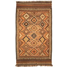 Antique Kilim Qashqai Rug | From a unique collection of antique and modern persian rugs at https://www.1stdibs.com/furniture/rugs-carpets/persian-rugs/