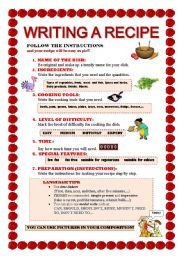 English worksheets how to write a recipe esl pinterest english worksheets by joebcn at esl printables the website where english language teachers exchange resources worksheets lesson plans activities etc forumfinder Images