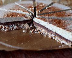 Tvarohovo-čokoládová torta (raw vegan nutella cheesecake)  #torty #raw #vegan #bezlepkové #recepty