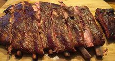 St. Louis Style Ribs, 3 1/2 hrs @ 275 deg. on my Offset Smoker - Man on Deck BBQ