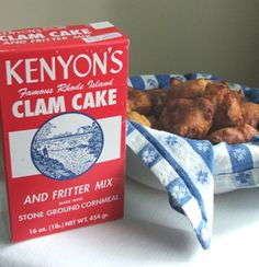 Yummy clam cakes from Kenyon's.