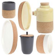 Amorim Alma Gemea Cork and Ceramic Kitchenware  So very cool