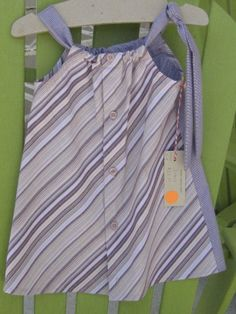 Purple dress - size 3-4 - bias front, tiny checked back - Daddy's Button Shirt - $22.00 - sold Lake Mary/Heathrow