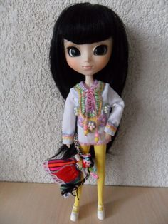 Tunic with embroidery for Blythe & Pullip doll