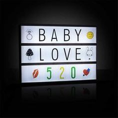 118 Letters & Emoji Cinematic Cinema Light Up Card Box Sign Wedding Decor Online Shopping Usa, Box Signs, Bedside Lamp, House Rooms, Baby Love, Light Up, Wedding Decorations, Wall Lights, Room Decor
