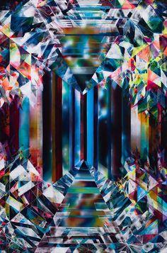 Glint Acrylic on canvas 72 × 48 in 182.9 × 121.9 cm