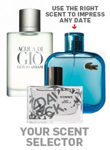Hot date? Big party? Work event? Use our scent selector to pick the best cologne for any occasion.
