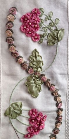 Wonderful Ribbon Embroidery Flowers by Hand Ideas. Enchanting Ribbon Embroidery Flowers by Hand Ideas. Ribbon Embroidery Tutorial, Crewel Embroidery Kits, Silk Ribbon Embroidery, Embroidery Patterns, Embroidery Thread, Embroidery Tattoo, Embroidery Supplies, Ribbon Art, Ribbon Crafts
