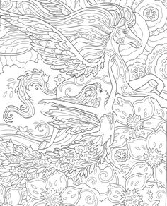 Angel Coloring Pages, Printable Adult Coloring Pages, Coloring Books, Colouring Pages For Adults, Bunt, Papercutting, Free Printable, Art Drawings, Fantasy