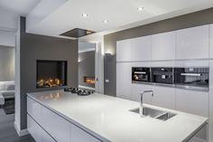 Boley gashaard Luna 850 V Diamond Open Plan Kitchen Living Room, Home Decor Kitchen, Interior Design Kitchen, Kitchen Ideas, Decoration Faux Plafond, Handleless Kitchen, House Cladding, Modern Kitchen Cabinets, Cuisines Design