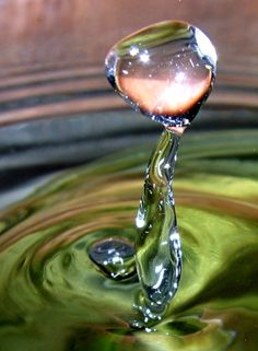 Drop of water. Beautiful