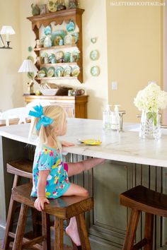 Marble Countertop | Green Island | The Lettered Cottage
