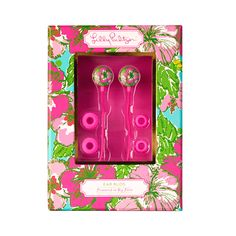 Lilly Pulitzer Big Flirt Ear Buds with Cord
