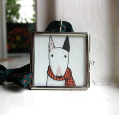 Hand painted holiday christmas ornament