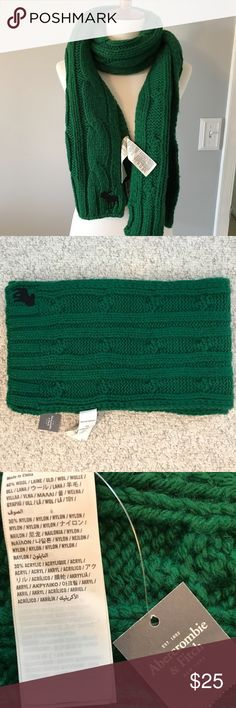 """ABERCROMBIE AND FITCH SCARF  *NWT* Chunky men's scarf but can easily be worn by a woman.  72"""" x 10"""" Abercrombie & Fitch Accessories Scarves & Wraps"""