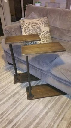 Couch Slide Under Side Table My Diy In 2019 Table Couch Couch